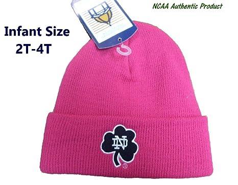 6e15c2bb9ee ... reduced notre dame fighting irish toddler 2t 4t knit cuff beanie pink hat  cap a3da2 ac198