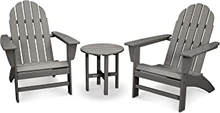 product image for POLYWOOD Vineyard 3-Piece Adirondack Chair Set with Side Table