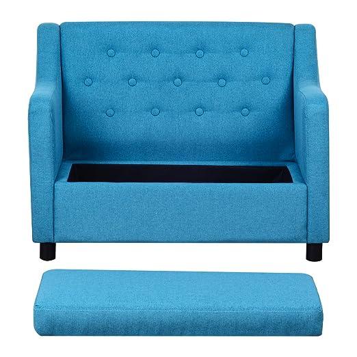 Amazon.com: Sofá infantil, sillón tapizado con ...