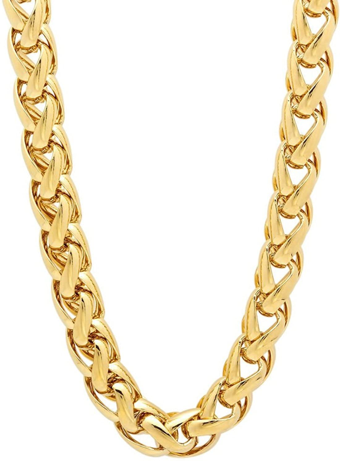 2e8e79f5d1dd0 Spangel Fashion Gold Plated Chain for Boys and Mens