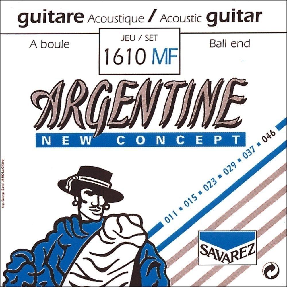 Savarez 1012 Argentine (Jazz Acoustic Guitar) Plain Steel, Loop End
