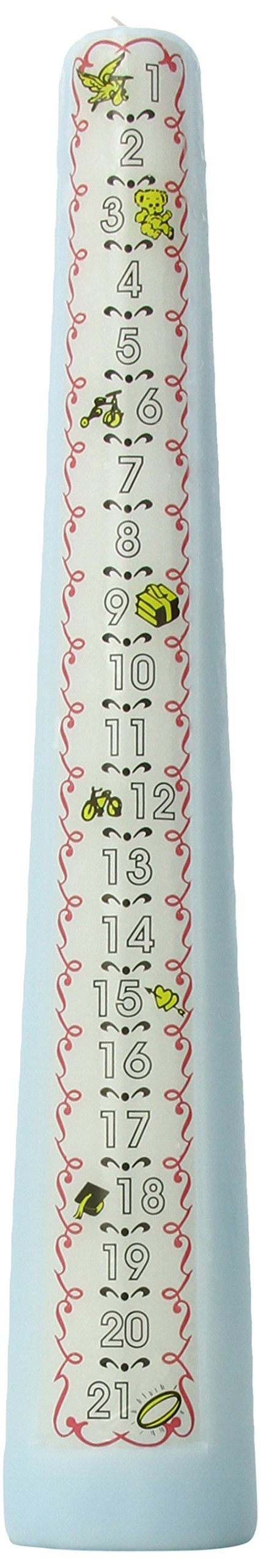 Celebration Candles 1 21 Year Numbered Birthday Candle Blue