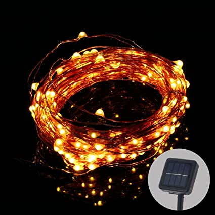 20 Meter 200 Leds Solar Copper Wire String Lights 8 Modes Waterproof Outdoor Starry String Lights For Garden Patio Yard Tree Wedding Decorations