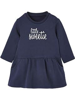 e58af64b3 Vertbaudet Embroidered   Frilled Denim Dress for Baby Girls  Amazon ...