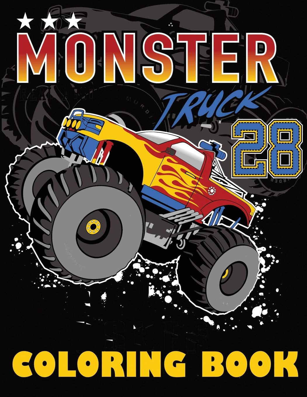 Monster Truck Coloring Book Big Coloring Book For Boys And Girls Blue Wave Press 9781647900311 Amazon Com Books