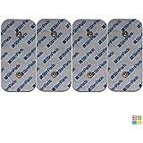 Compex Electrodos. Pack de 4x 50X100mm electrodos de alto rendimiento y larga duración con Snap DUAL! Compatibilidad con Compex garantizada al 100%