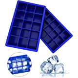Ozera 2 Pack Silicone Ice Cube Tray, Ice Cube Trays Molds, Ice Cube Tray for Whiskey, Easy Release Flexible Ice Cube Molds 15