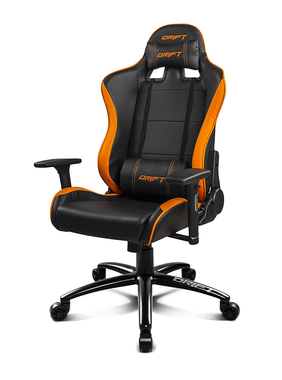 Drift DR200BO - Silla Gaming Profesional, (Polipiel Alta Calidad, Ergonómica), Color Negro/Naranja