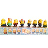 Minions Toys Party Supplies Despicable Me Action Figures   Set of 8 Miniature Minion Dolls