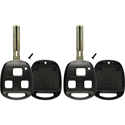 KeylessOption 2 Key Replacement Case Shell Keyless Entry Remote Fob Uncut Blade Fix Master for HYQ1512V, HYQ12BBT: Automotive