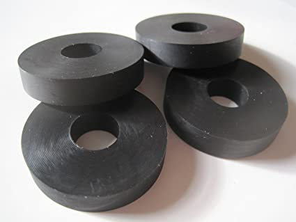 Amazon.com : 4-Pack - Multi-purpose Rubber Washers 1 1/2 OD x 1/2 ID ...