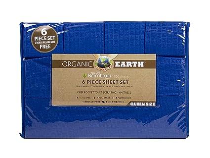 Amazoncom Organic Earth Aloe Vera Bamboo Essence 6 Piece Sheet Set