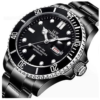 c84b35ce730 Mens GMT Black Luminous Dial Rotating Bezel Watch Men s Diver Automatic  Mechanical Week Day Wristwatch