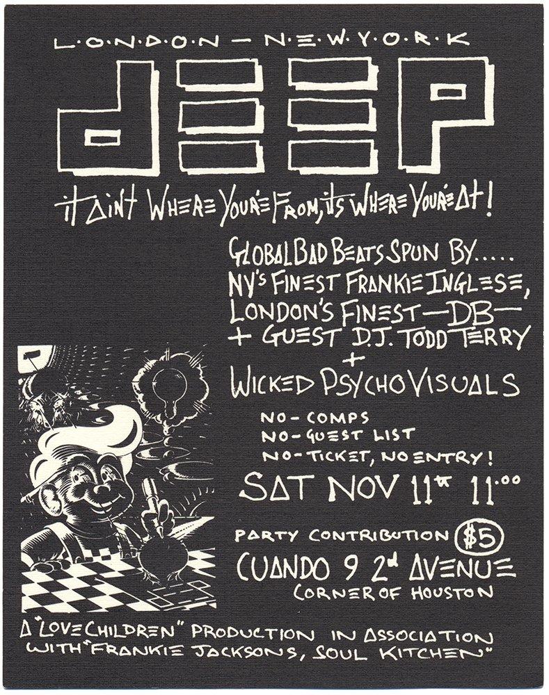 No Sleep: NYC Nightlife Flyers 1988-1999: DJ Stretch