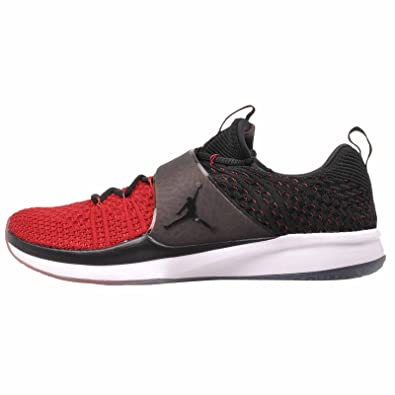 4b611365a9d Image Unavailable. Image not available for. Color  Nike Jordan Trainer 2  Flyknit Men s Training Shoes Gym Red Black-Black ...