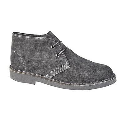 Roamers Damen Desert-Boots / Schnürschuhe / Halbschuhe, Wildleder (37 EUR) (Rot)
