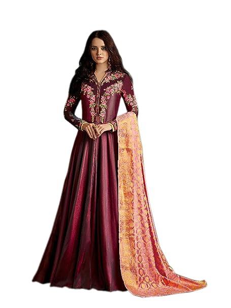 705c2f8fd5 Shoppingover New Collection Asian Women Party Wear Designer Bridal Salwar  Kameez-Pink Color: Amazon.co.uk: Clothing