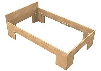 Bassner Holzbau 27mm Echtholzbett Massivholzbett Buche 100x200 Fuss Ii