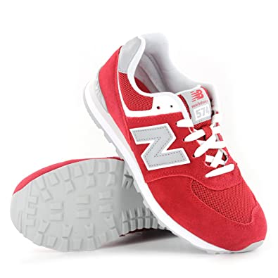 pretty nice e17ba 5e7b3 New Balance 574 Series GS KL574RBG Red Youths Trainers Size 4.5 UK   Amazon.co.uk  Shoes   Bags