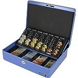 HMF 100155 Caja de caudales, bandeja para contar monedas 30,0 x 24,0 x 9,0 cm azul