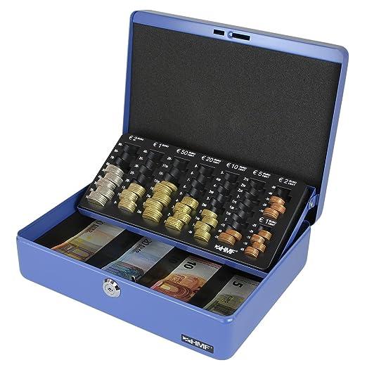 61 opinioni per HMF 10015-05 Cassetta Portavalori con Vassoio Porta Monete e Banconote 30 x 24 x