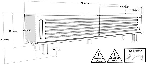 Decorotika - Mueble para televisor (70 Pulgadas, Centro de Entretenimiento con Puerta corredera, para Salas de Estar pequeñas, para televisores de hasta 70 Pulgadas): Amazon.es: Juguetes y juegos