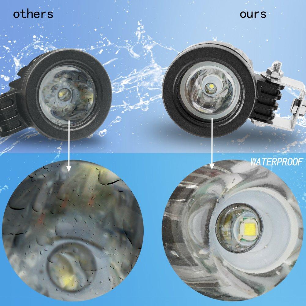 Biqing 10w del Cree viga de Punto de Luces LED de conducción del Trabajo Lámparas Spotligts Offroad Faros de Niebla Focos LED de Alta luminosidad de Las lu: ...