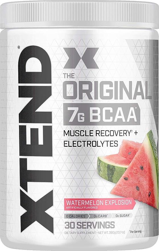 Amazon.com: XTEND Original BCAA - Polvo Cereza Negra   Bebida de recuperación muscular sin azúcar con aminoácidos para después del entrenamiento   0.25 oz de BCAA para hombres y mujeres   30 porciones: Health & Personal Care