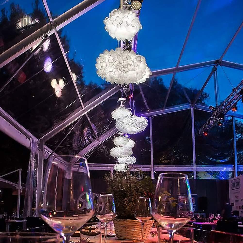 Amazon.com: Lámpara de araña LED de PVC creativa, diseño de ...