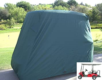 Golf Cart Cover 4 Seater Roof Up To 80u0026quot;L Green, Fits EZGO,
