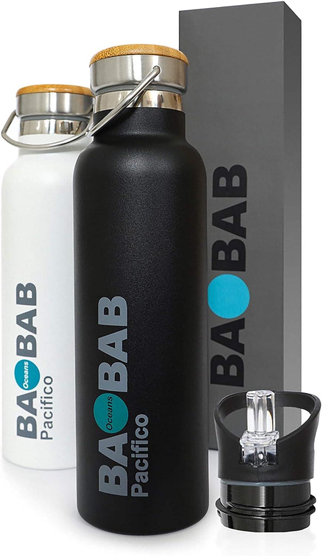 borraccia a prova di fumo per sollevare la scuola e lo sport senza BPA 400 ml Bottiglia di acqua in alluminio per baby shark blu