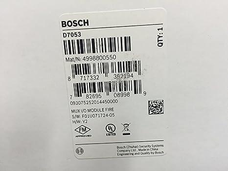Bosch D7053 -Multiplex Input-Output Module - - Amazon.com