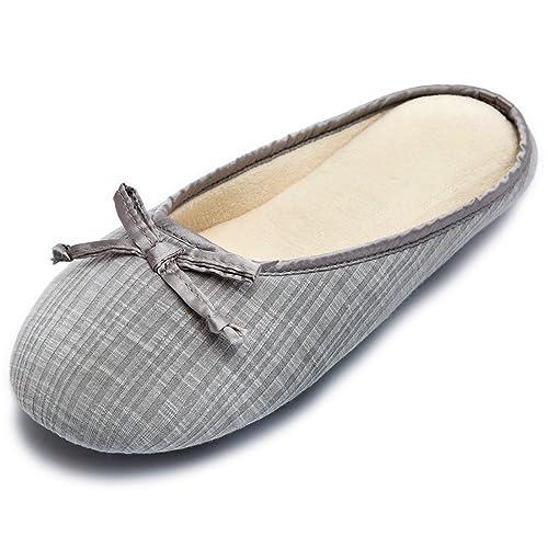 Cozy Niche - Zapatillas de Espuma viscoelástica para Mujer, Puntera Cerrada, con Lazo, Primavera y Verano: Amazon.es: Zapatos y complementos
