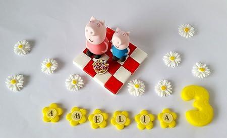 Peppa Pig George de tartas glaseado comestible personalizado ...
