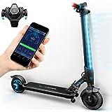 novità 2018! Monopattino Elettrico IX300 Bluewheel Smartphone App, LED Multicolore, Display LCD, Batteria ioni di Litio Fino 20 km*, Pieghevole, Bluetooth Scooter Elettrico per Adulti e Bambini