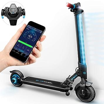 Bluewheel ¡Novedad en el Mercado 2019! Patinete eléctrico IX300 App Smartphone,LED, Bluetooth,LCD Display, batería Li-Ion de hasta 20 km. Apto para ...