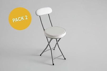 Kit Closet Pack 2 Sillas Plegables Acolchado, Blanco, 74 XX 50 X 30