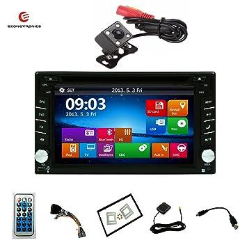 Ezonetronics® coche DVD GPS navegación 2 Din Car Stereo Radio GPS Bluetooth USB/SD