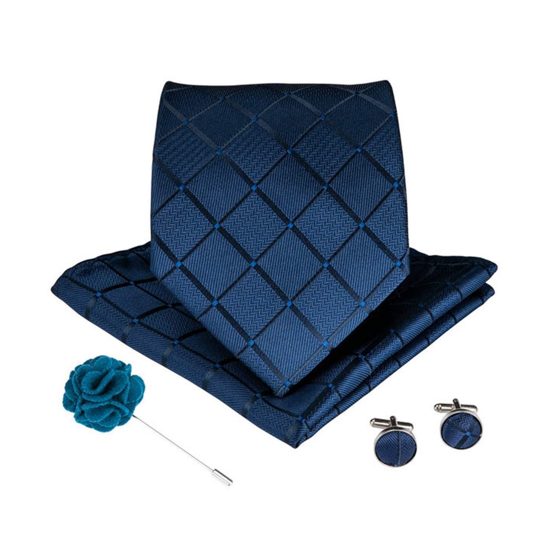 15 estilos Blue Teal Tie Pañuelo de corbata de los hombres Broche ...