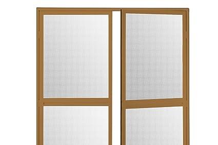 Duo Pro - Mosquitera con bisagras para puerta abatible, aluminio, 200 x 240 cm