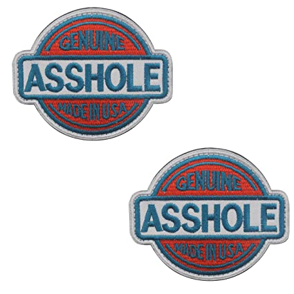Genuine Asshole Tactical Military Embroidery Velcro Patch Emblem Embroidered  Fastener Hook and Loop Funny Patches for 20e76a8efba