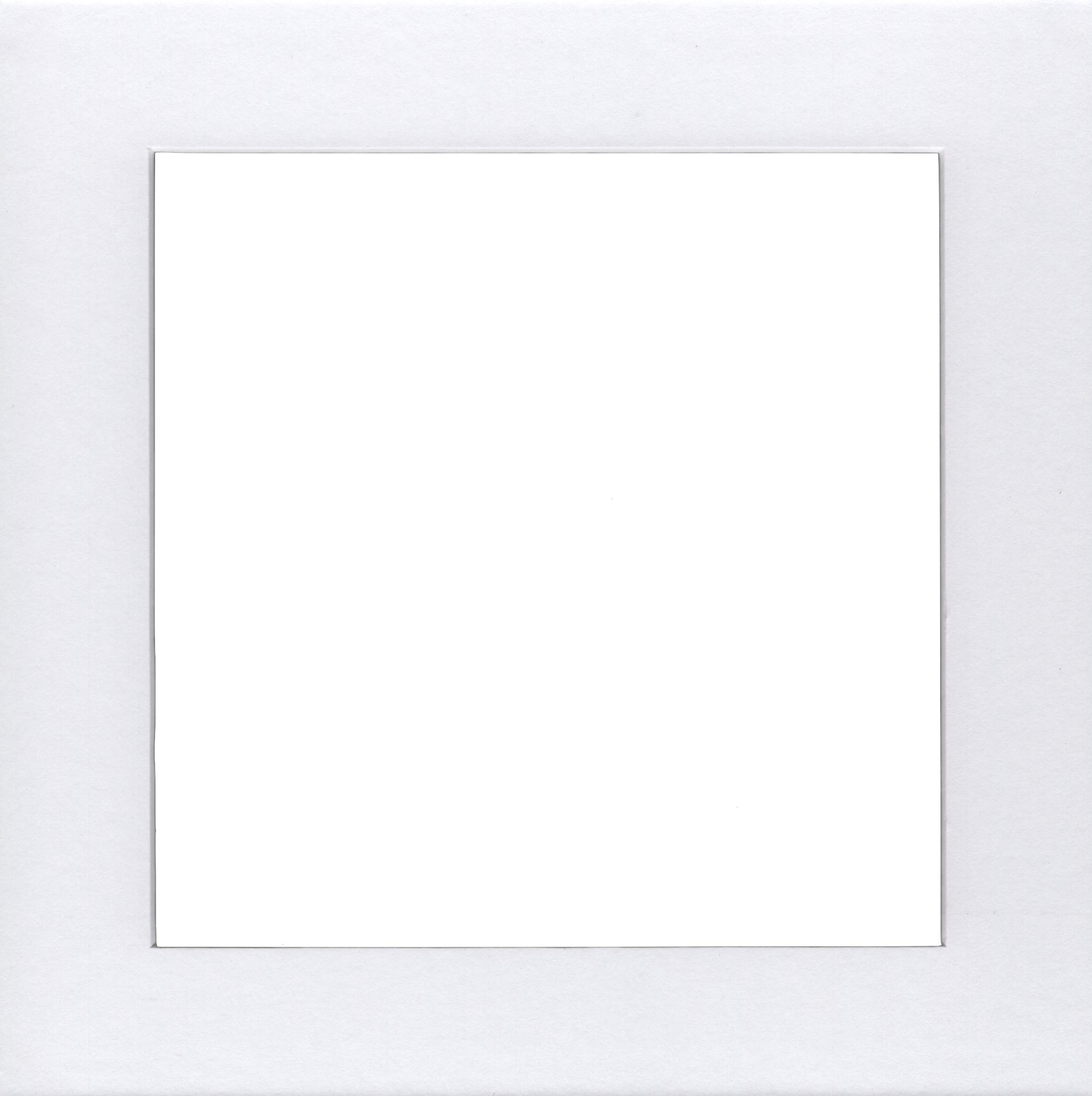 Pack of 5 16x16 Square White Picture Mats with White Core Bevel Cut for 12x12 Pictures by bux1 picture matting