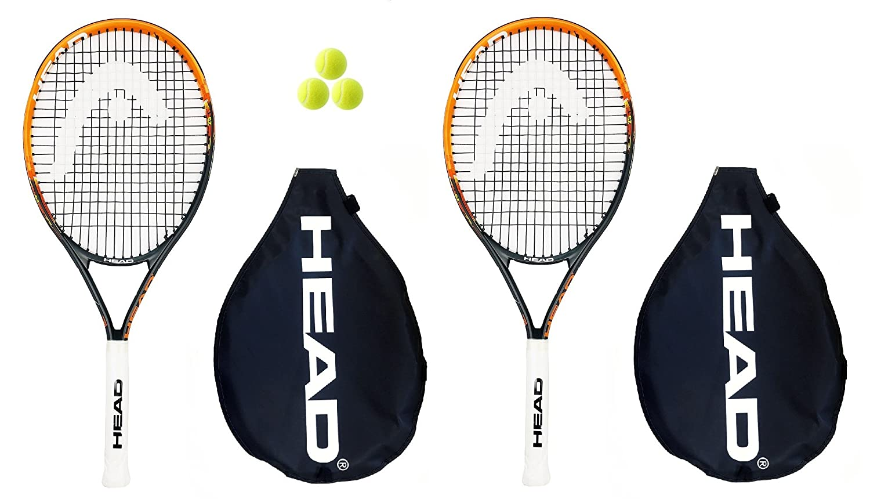 2 x Head Radical Andy Murray 25 Junior Tennis Racket + 3 Balls