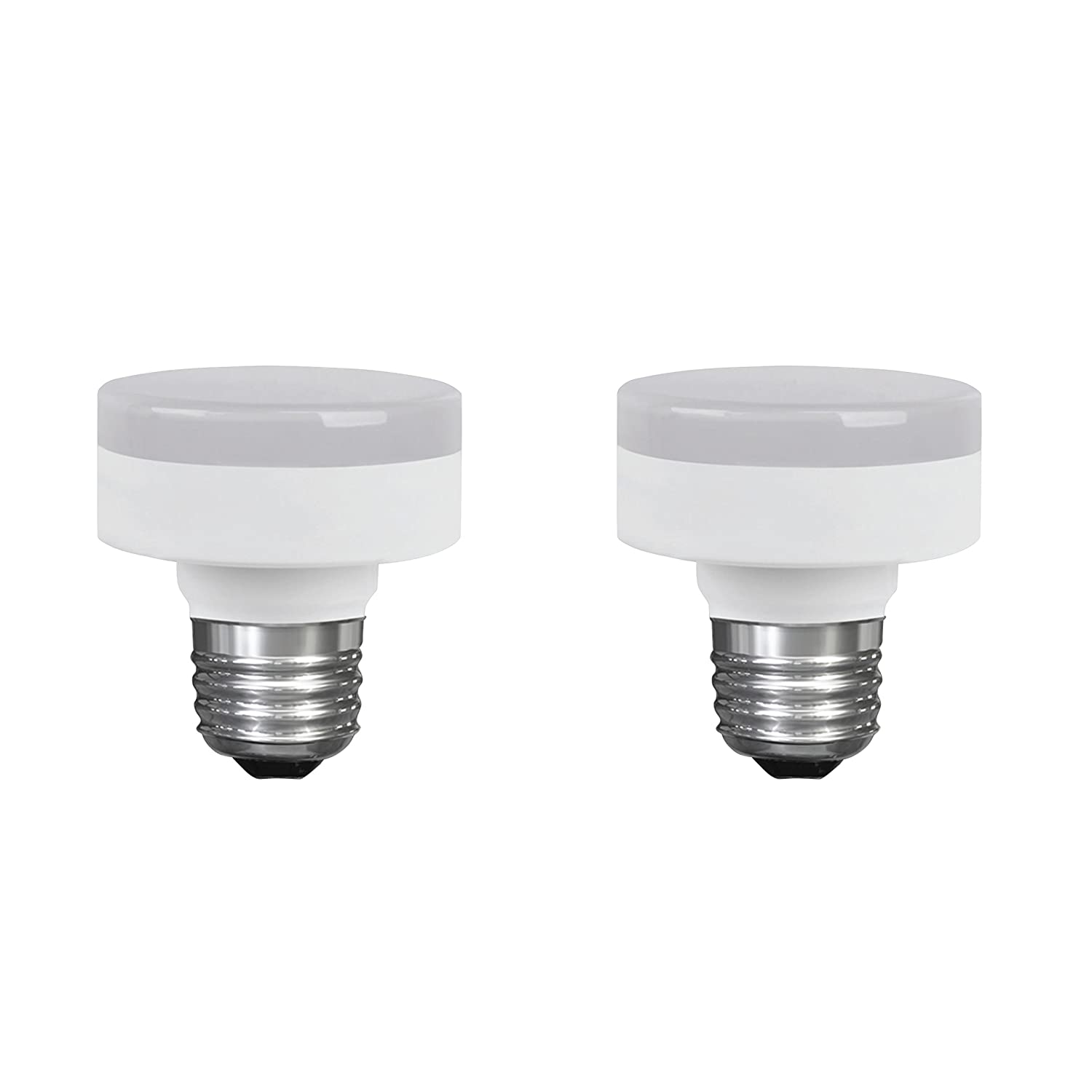 LED Closet Puck Light Bulb, Dimmable, 11W (60W Replacement), 800 Lumens, 4000K Cool White, E26 Medium Base, 120V, UL Listed (2 Pack)