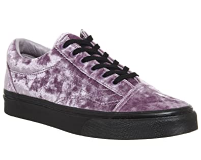 Vans Old Skool Mens Size 9 Womens 10.5 Velvet Sea Fog Purple Black Sole Fashion Shoes