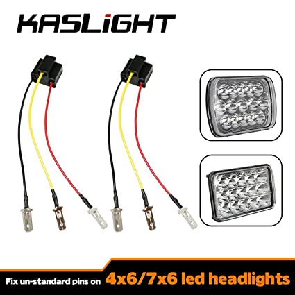 amazon com kaslight h4 harness pair h4 socket h4 9003 hb2 harness rh amazon com h4 bulb wiring harness ceramic h4 headlight relay wiring harness