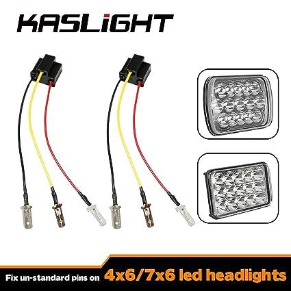 amazon com kaslight h4 harness pair h4 socket h4 9003 hb2 harness rh amazon com arb h4 wiring harness putco h4 wiring harness