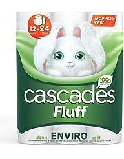 Cascades Fluff Enviro Toilet Paper, 2-ply, 253 Sheets per Roll - 12 Rolls