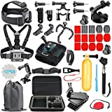 RayHom Outdoor Sports Camera Accessory Kit for GoPro Hero 5/4/3+/3/2/1 Black Silver SJ4000 SJ5000 SJ6000, Accessories for Action Video Cameras Xiaomi Yi Lightdow AKASO DBPOWER and More. (54 Items)