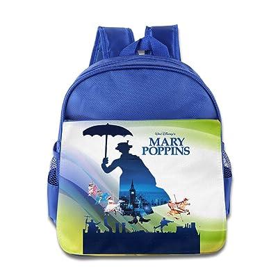 Mary Poppins Parrot Umbrella Julie Andrews Logo Kids School Blue Backpack Bag lovely